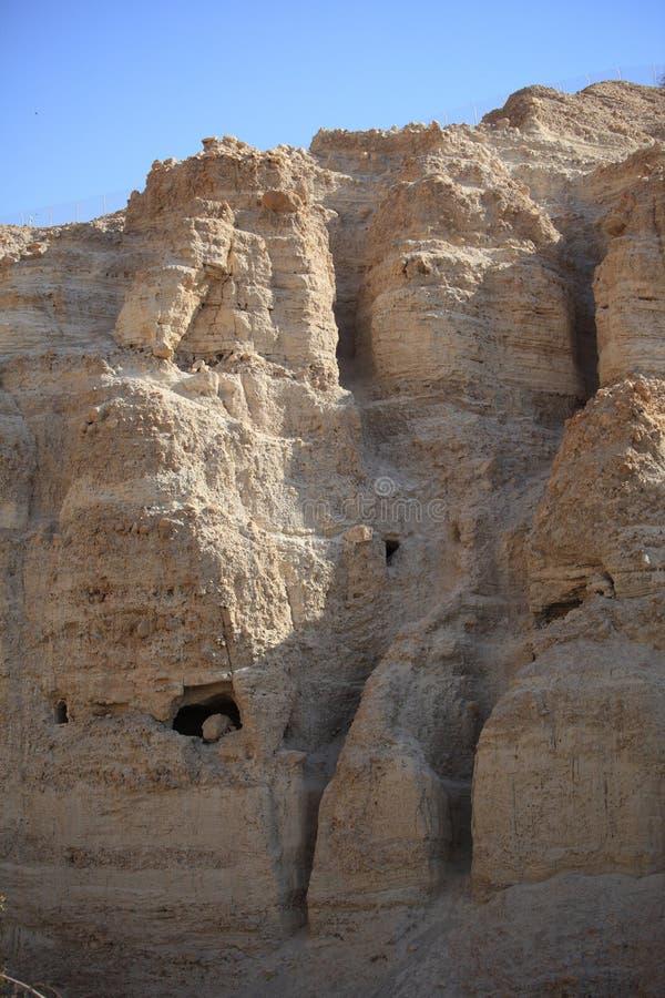 Ландшафт горы утеса Ein Gedi, Израиль стоковые фотографии rf