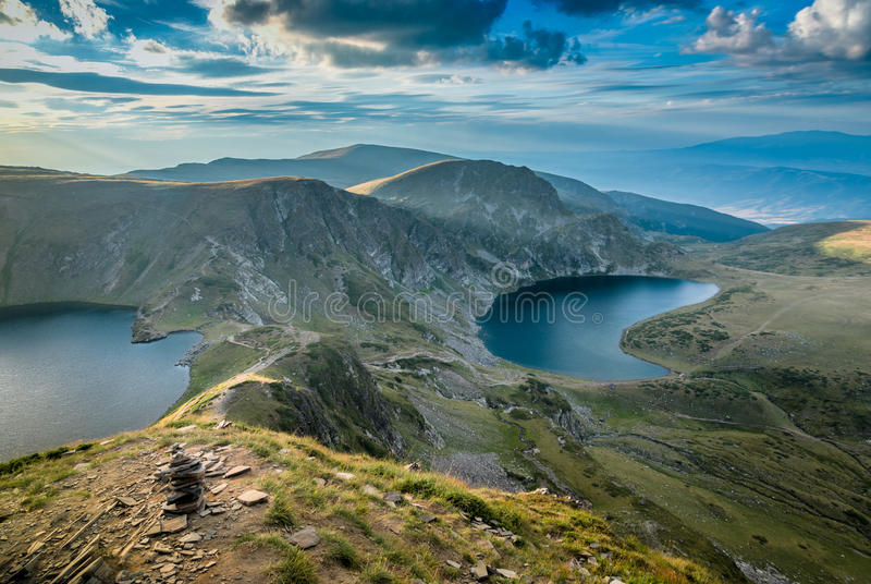 Ландшафт гор Болгарии стоковая фотография rf
