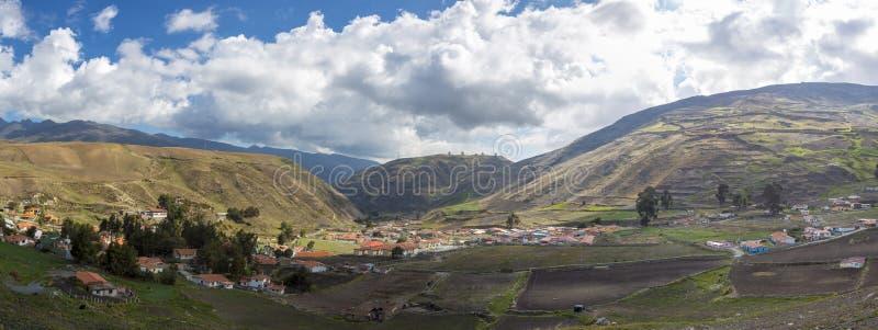Ландшафт гор в Мериде около Лос Nevados, Венесуэлы стоковая фотография