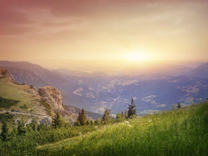 Ландшафт гор стоковая фотография rf