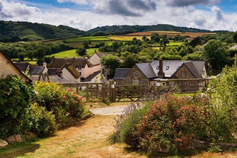 Ландшафт деревни, Англия стоковые фотографии rf