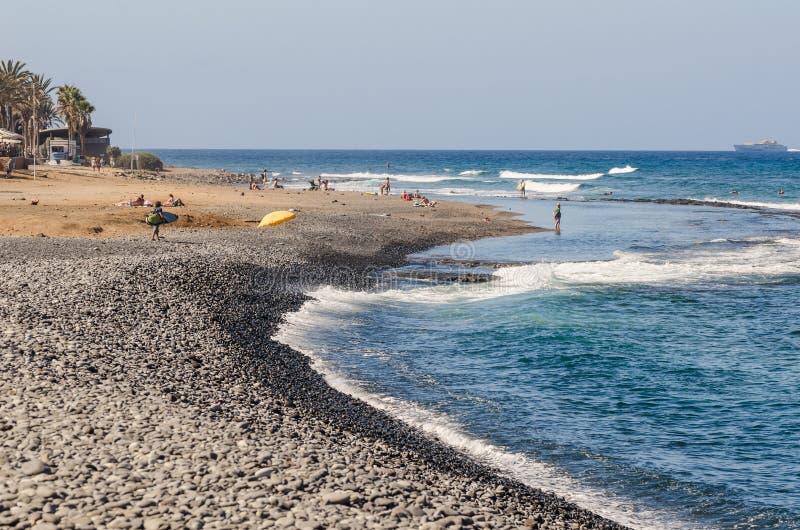 Ландшафт лета пляжа стоковые изображения rf