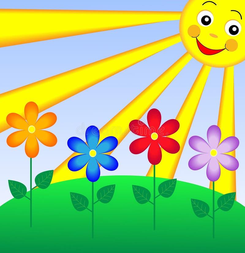 наша картинки с солнышком и цветами в цветном рисунке ещё