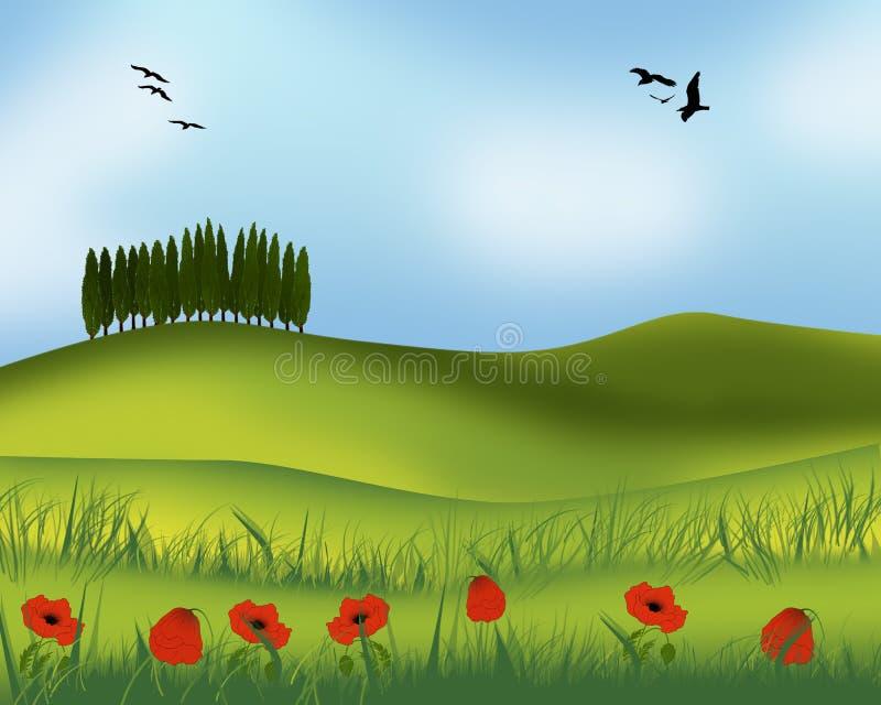 Download Ландшафт лета. иллюстрация штока. иллюстрации насчитывающей ландшафт - 37928067