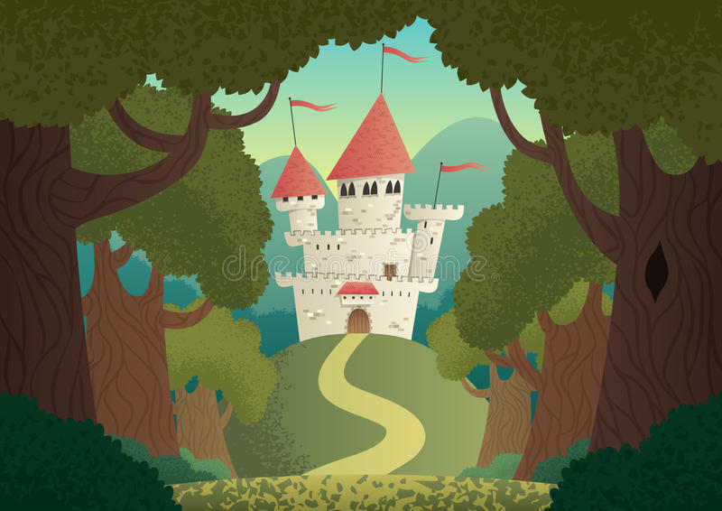 Ландшафт замка бесплатная иллюстрация