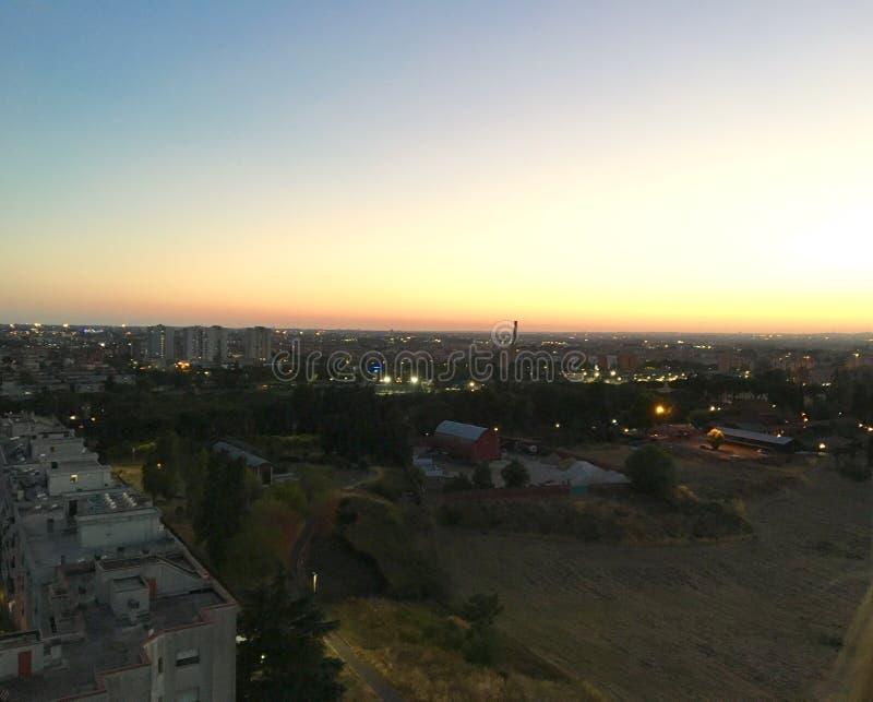 Ландшафт захода солнца Рима стоковые фото