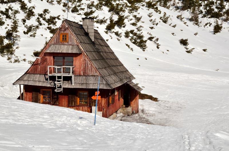 Ландшафт зимы в горах стоковые изображения rf