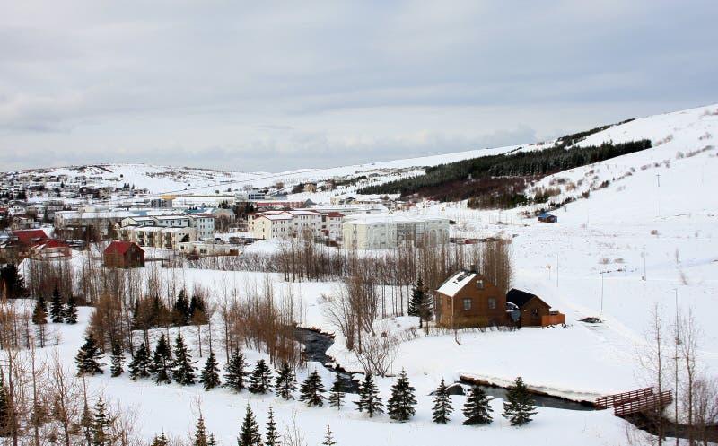 Ландшафт зимы в Husavik, Исландии - #2 стоковые изображения