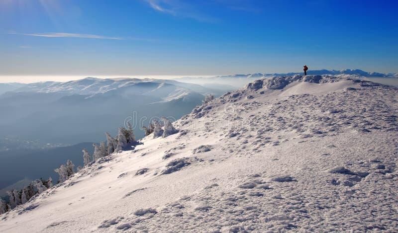 Ландшафт зимы гористый стоковые фотографии rf