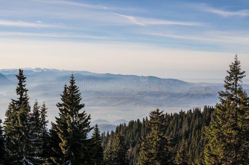 Ландшафт зимы горы стоковое фото rf