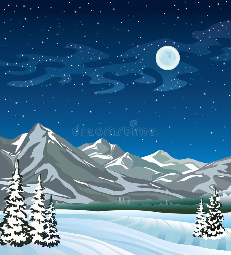 Ландшафт зимы. иллюстрация вектора