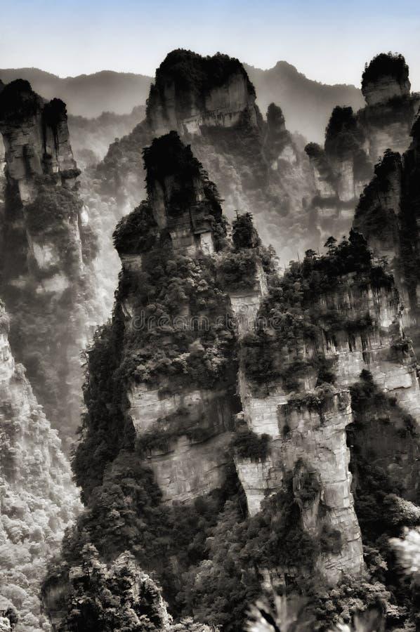 Ландшафт Китай Zhangjiajie стоковые изображения rf