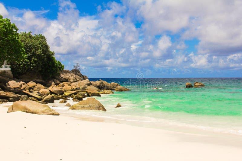 Ландшафт красивого экзотического тропического пляжа на стоковое изображение rf