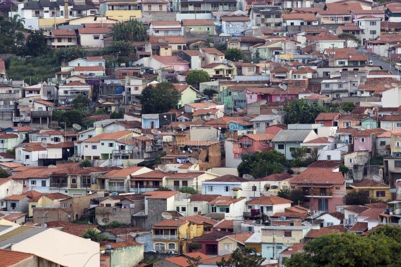 Ландшафт меньшего города стоковые изображения rf