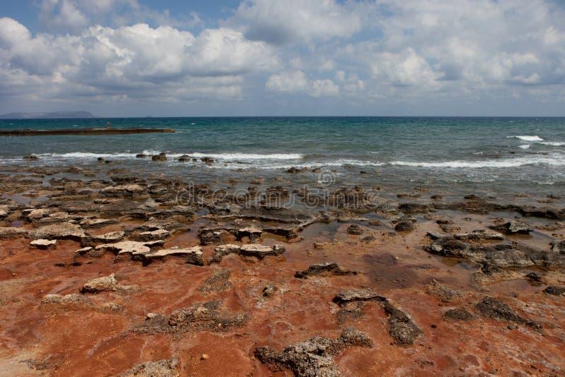 Ландшафт моря, Крит Analipsi стоковые изображения
