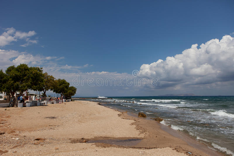 Ландшафт моря, Крит Analipsi стоковые фото