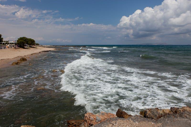 Ландшафт моря, Крит Analipsi стоковая фотография