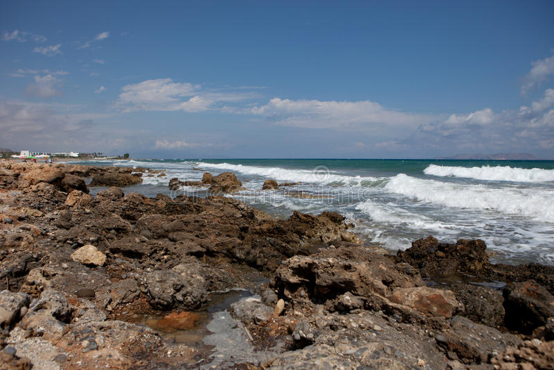 Ландшафт моря, Крит Analipsi стоковое фото rf
