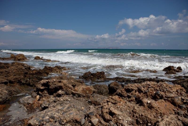 Ландшафт моря, Крит Analipsi стоковое изображение rf