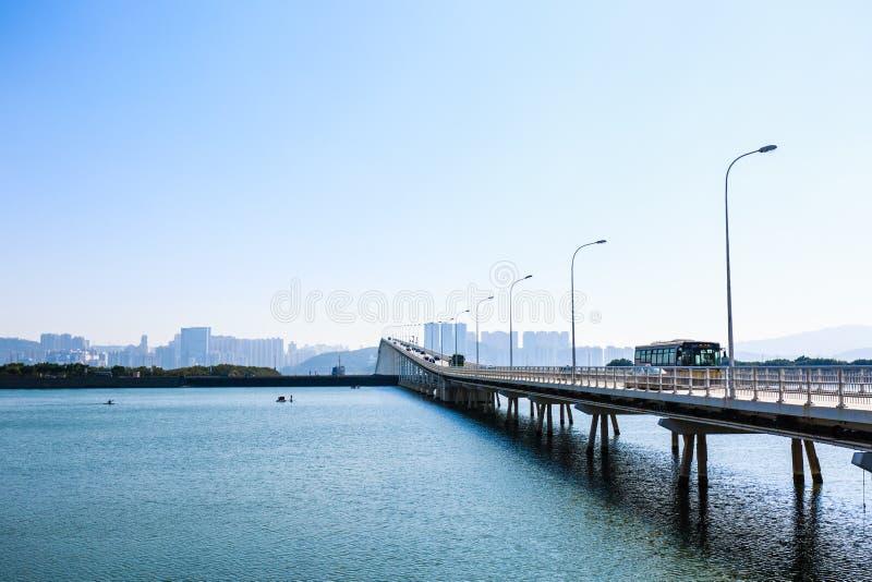 Ландшафт моря Макао, в Китае стоковые фото