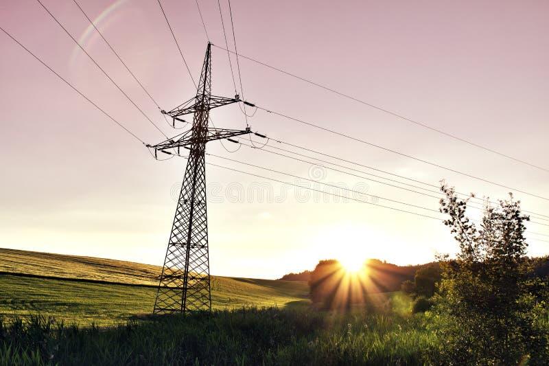 Ландшафт напряжения тока стоковое фото rf