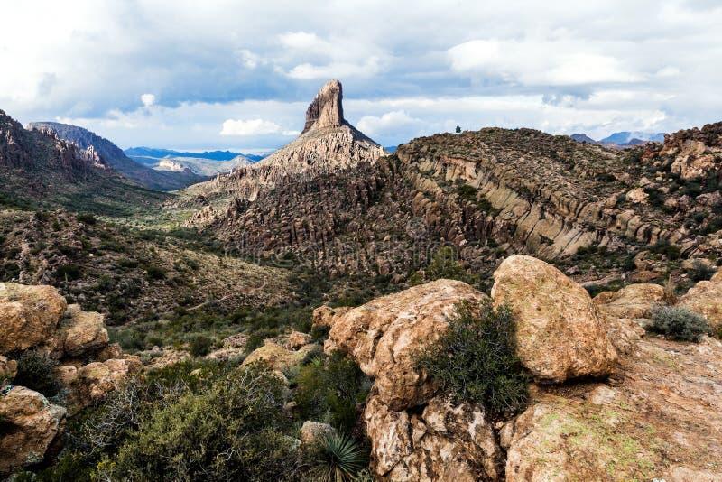 Ландшафт на Аризоне на национальном лесе Tonto, США стоковая фотография rf