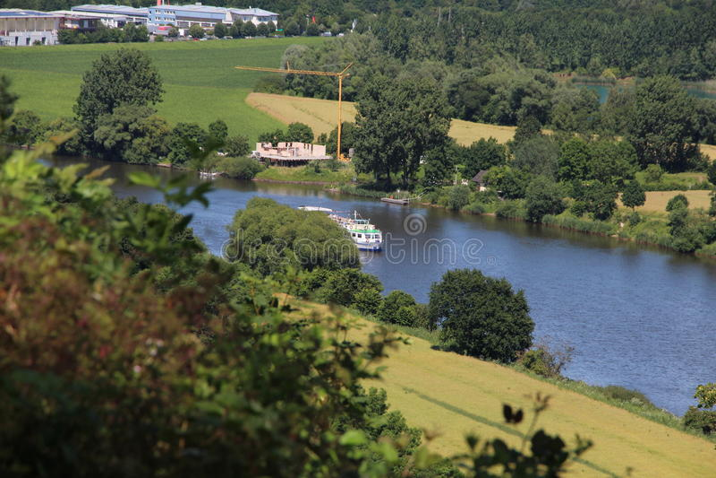 Ландшафт на реке Weser стоковые фотографии rf