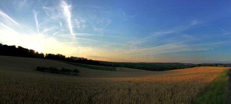 Ландшафт немецкой сельской местности в Бадене-Wurrtemberg стоковые изображения rf