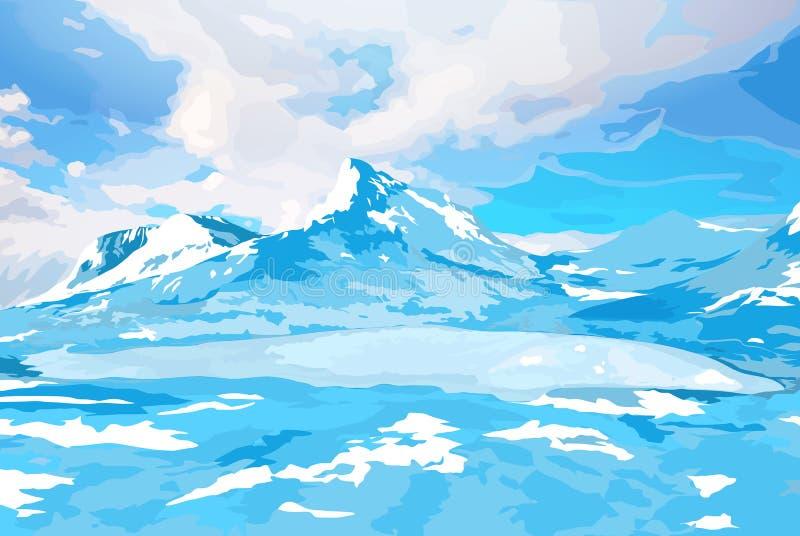Ландшафт Норвегии иллюстрация штока