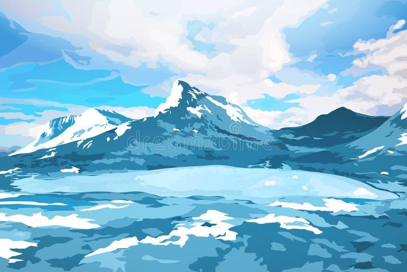 Ландшафт Норвегии бесплатная иллюстрация