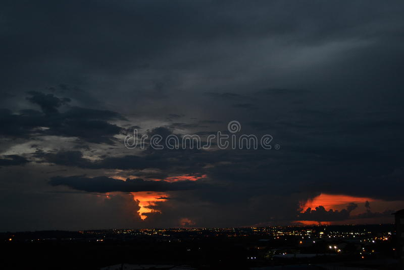 Ландшафт ночного неба стоковые изображения