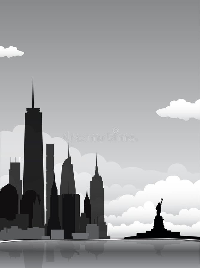 Ландшафт Нью-Йорка иллюстрация штока