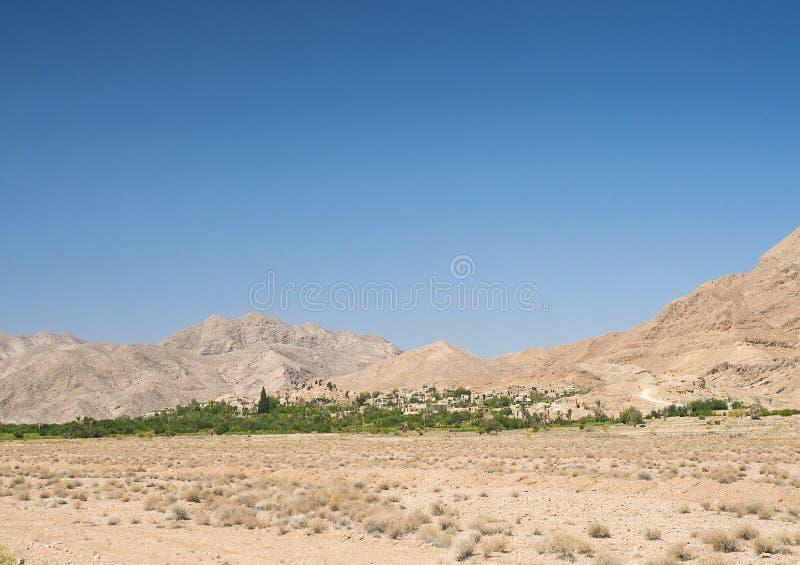 Оазис Garmeh в южной пустыне Ирана стоковое изображение