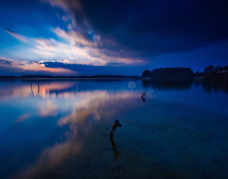 Ландшафт озера долгая выдержка стоковое фото rf
