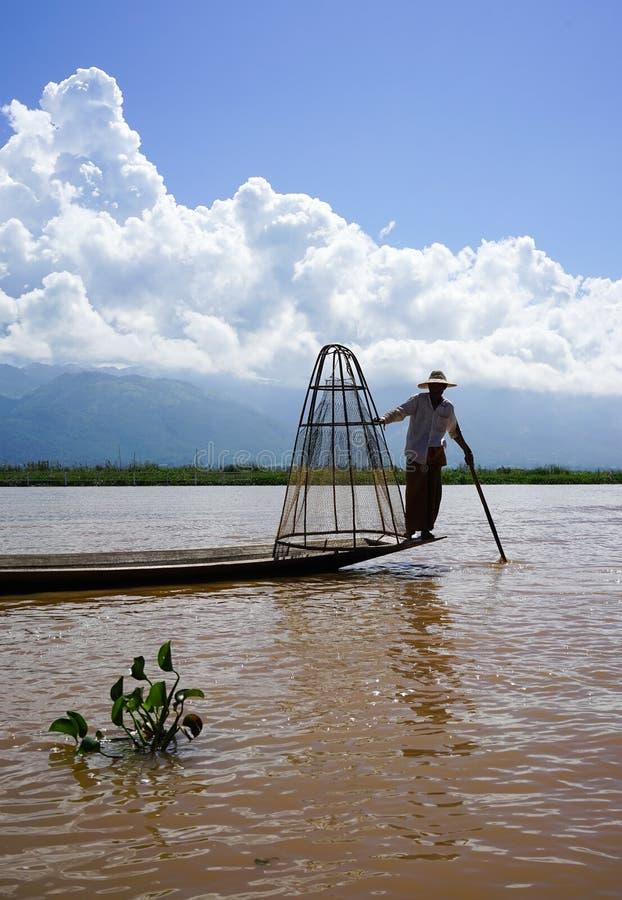 Ландшафт озера Inle в Шани, Мьянме стоковые изображения
