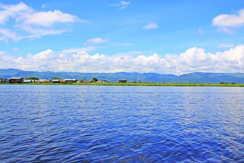 Ландшафт озера Inle, Мьянма стоковое изображение