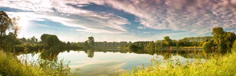 Ландшафт, озеро стоковая фотография rf
