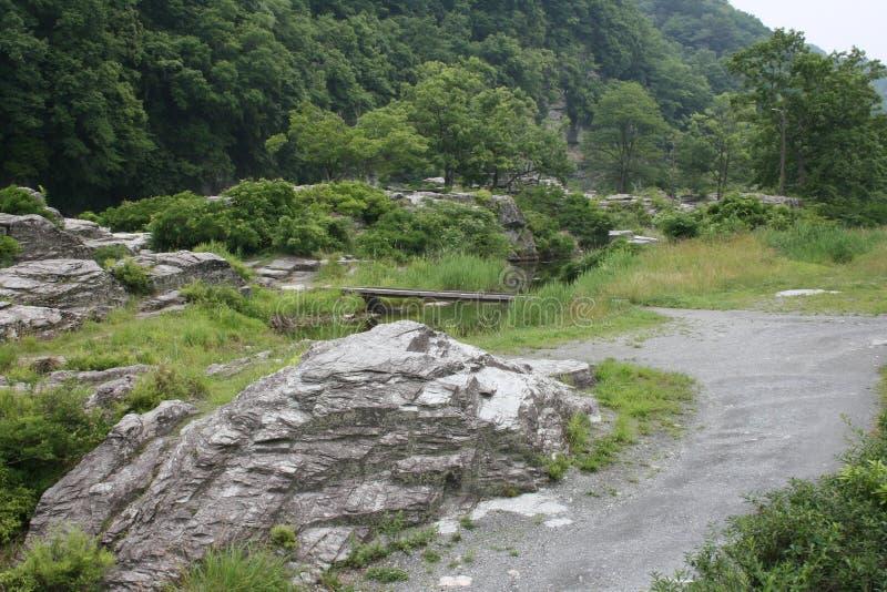 Ландшафт около Nagatoro, Японии стоковое фото rf