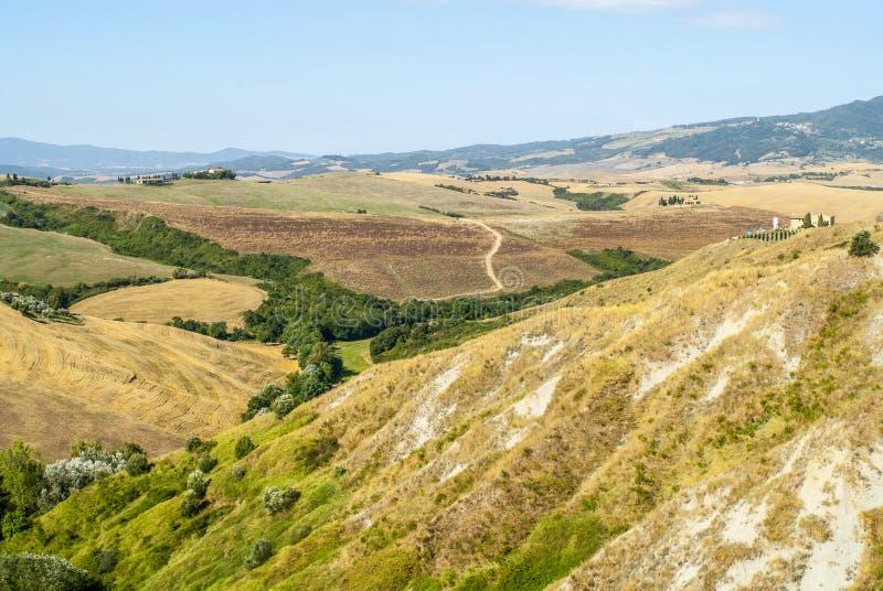 Ландшафт около Volterra (Тоскана) стоковые фотографии rf