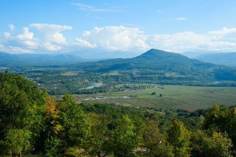 Ландшафт осени в верхней части горы стоковые фото