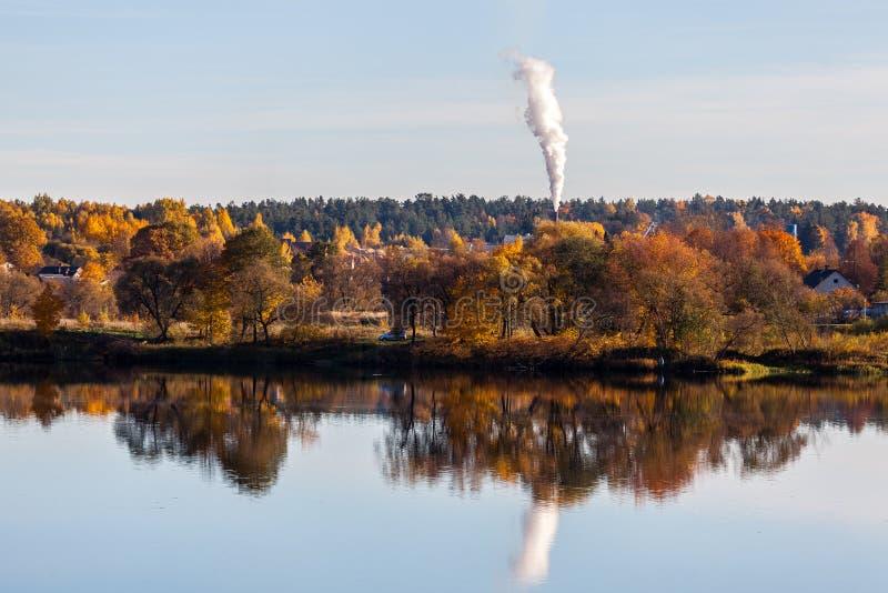 Ландшафт осени Koknese latvia стоковое фото rf