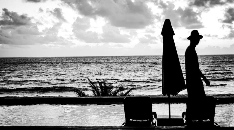 Ландшафт острова Доминики стоковые изображения