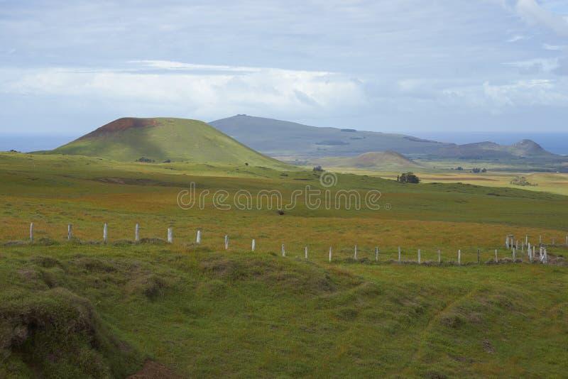 Ландшафт острова пасхи, Чили стоковая фотография rf