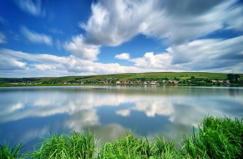 Ландшафт отражения воды стоковые фото