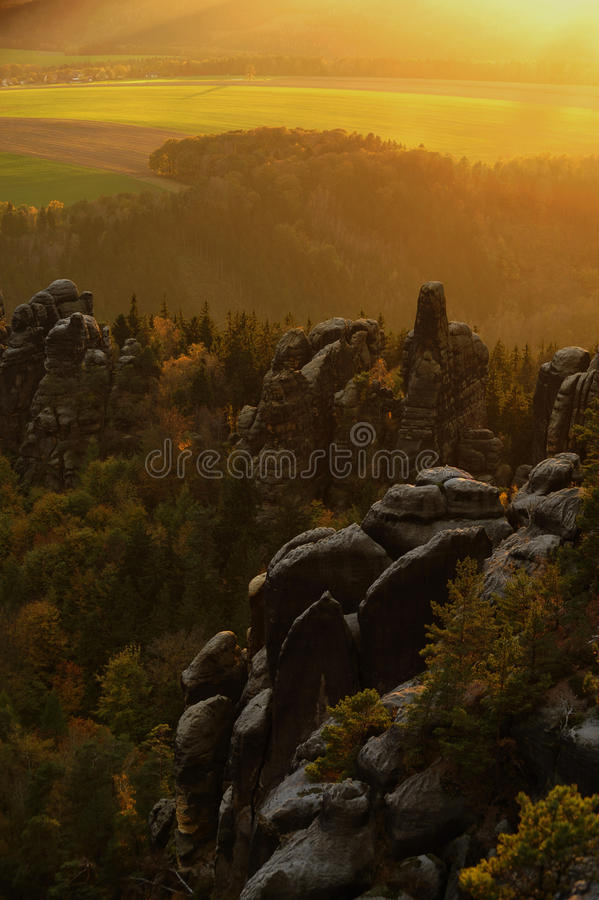 Ландшафт долины стоковое фото rf