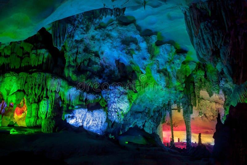 Ландшафт пещеры, Китай стоковые изображения