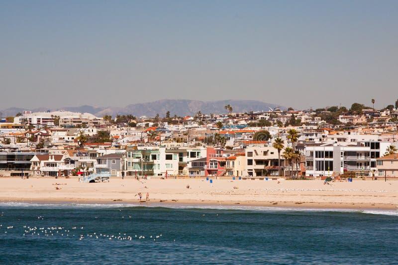Ландшафт пляжа Hermosa стоковые изображения rf