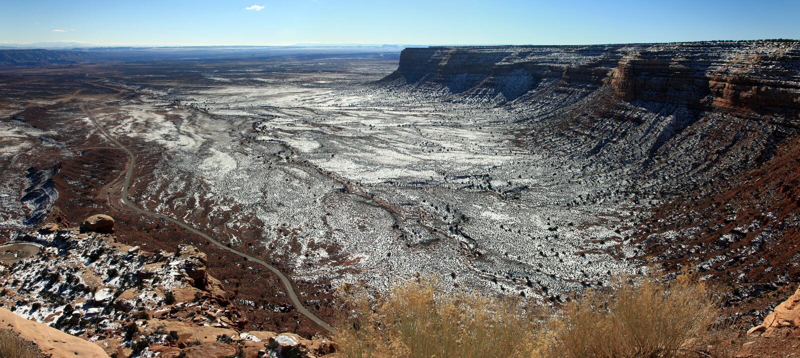 Ландшафт равнин пустыни высокий стоковые фото