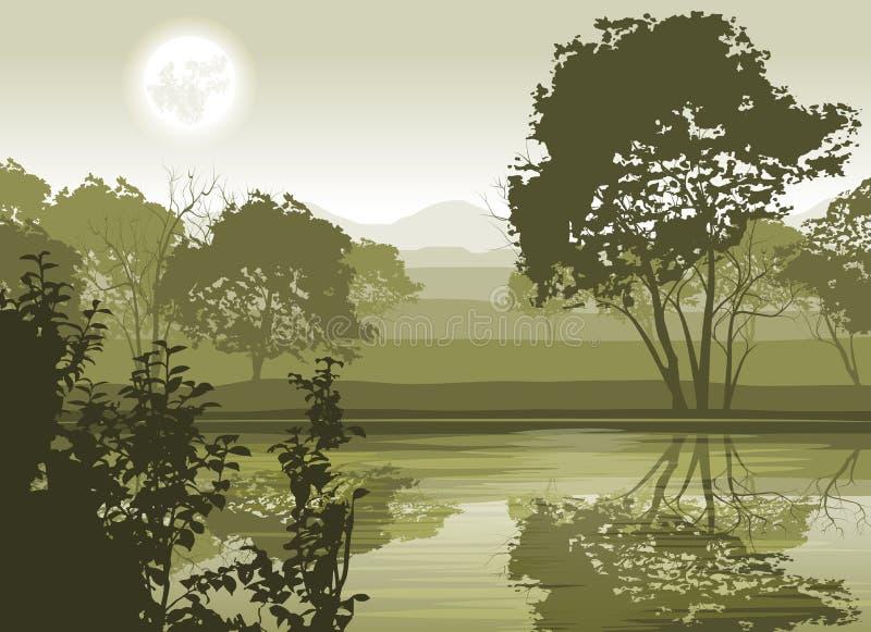 Ландшафт реки бесплатная иллюстрация