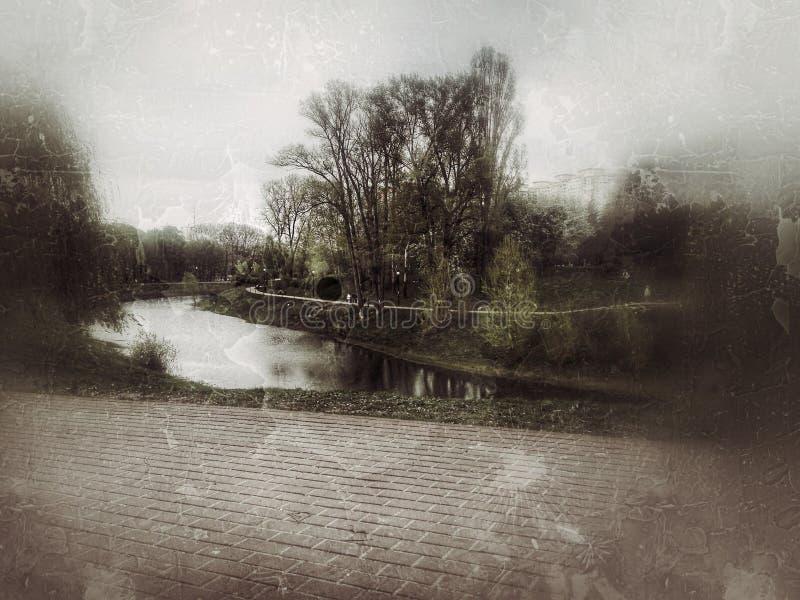 Ландшафт ретро стоковое фото